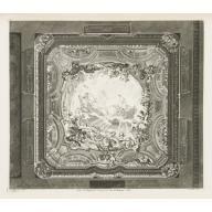 PLAFOND DE PEINTURE; Plafond du même cabinet, 4th Plate, Designer: Juste-Aurèle Meissonnier; Publisher: Gabriel Huquier; Engraver: Pierre-Alexandre Aveline, 1740