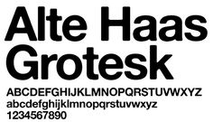 Alte Haas Grotesk Free Font