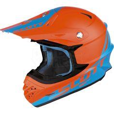 2015 Scott 350 Pro Race Helmet - Orange Blue