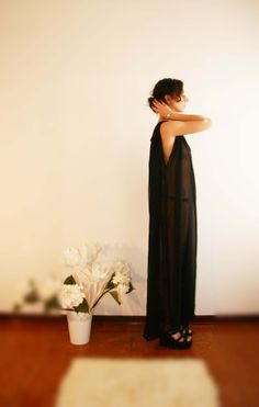 Alessia Tonolo Fashion Designer -crepe de chine long dress- http://www.notjustalabel.com/alessiatonolo
