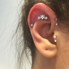 Tash rook with a garland and helix with a little diamond flower from lovely…