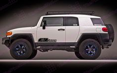 Toyota FJ Cruiser Retro Negative Door Decal Kit
