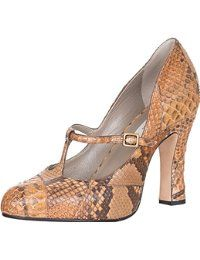 Marc Jacobs Women's 100% Python Snake Skin T-Strap Sandals Heels Shoes