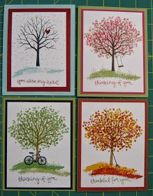 Stampin' on the Prairie: Sheltering Tree - Four Seasons