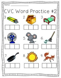 Enjoy 4 FREE elkonin box worksheets to help your students practice CVC words! Kindergarten Language Arts, Kindergarten Worksheets, Kindergarten Classroom, Literacy Activities, Cvc Worksheets, Literacy Centers, Teaching Reading, Guided Reading, Learning