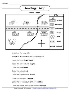OUR ENGLISH CLASS: Reading a map worksheets