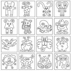 R sultat de recherche d 39 images pour coloriage de monstre - Dessin de chat rigolo ...