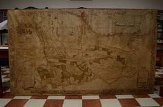 Laboratorio di restauro del libro - Abbazia di Praglia: Intervento di restauro di una mappa di grandi dime...