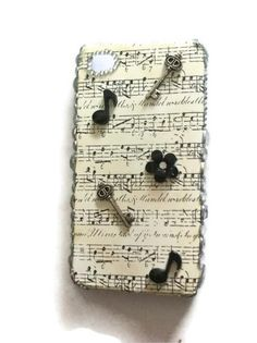DIY musical iphone 4, 4s case