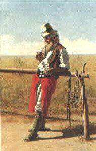 El chiripá colorado, óleo de Juan Manuel Blanes.-representación del Gaucho
