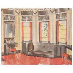 1931 Art Deco Bathroom  Interior Design Architecture Reference Book