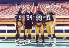 Greg Lloyd, Chad Brown, Levon Kirkland & Kevin Greene - Pittsburgh Steelers