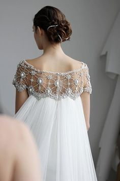 wedding gown Marchesa, Spring 2013 From Colin Cowie Weddings Wedding Robe, Wedding Gowns, Wedding Dress Cape, Elven Wedding Dress, Art Deco Wedding Dress, Lace Wedding, Wedding Dress Backs, Weeding Dress, Spring Wedding