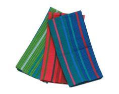 Carnivale Stripe Dishtowel Set of 3