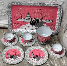 Vintage Ohio Art tea set
