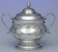 Alvin Chateau Rose (Sterling,1940,Hollowware) Sugar Bowl with Lid