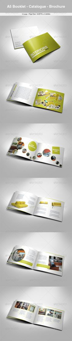 A5 Booklet Catalogue Brochure Design - Catalogs Brochures template InDesign INDD. Download here: https://graphicriver.net/item/a5-booklet-catalogue-brochure-/604058?s_rank=717&ref=yinkira