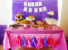 Alison's Pink and Purple Bridal Shower | Hey Love Designs