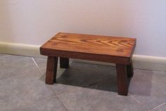 Handmade Wood Foot Stool Solid Ash Step Stool That Is In Stock And Ready To Ship