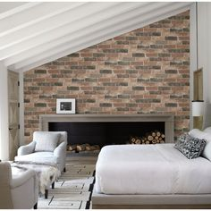 A delightful brick wallpaper with a modern twist thanks to orange tones. A great feature wallpaper from Fine Décor available from Go Wallpaper UK. Brick Wallpaper Room, White Brick Wallpaper, Wallpaper Uk, Rustic Wallpaper, Feature Wallpaper, Wallpaper Samples, Paintable Wallpaper, Wallpaper Designs, Bedroom Wallpaper