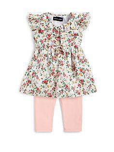 Ralph Lauren Infant's Two-Piece Floral Top & Leggings Set
