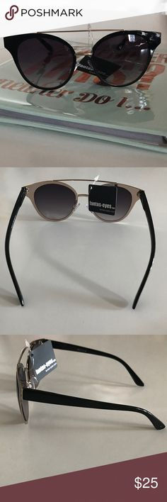 Black & Gold Round High Bridge Sunglasses Brand new never used with tag. Accessories Sunglasses