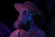 Homage to french artists, linien, laser photography, method of Ribas Long Exposure, French Artists, Cool Stuff, Portrait, Photography, Google, Photograph, Men Portrait, Photography Business