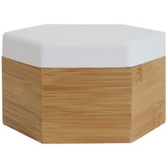Hex Medium Timber Box-White