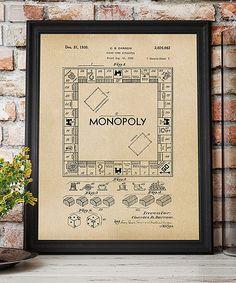 Monopoly patent artwork laser cut patent monopoly blueprint monopoly game 1935 patent art print malvernweather Choice Image