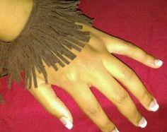 Frange di pelle e bracciale turchese. Bohemien frange di maslinda