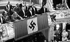 Adolf Hitler at the opera in Vienna, with Josef Burckel, Joseph Goebbels, and Martin Bormann