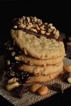 Chocolate Dipped Peanut Butter Cookies. Oh my, you're going to love these.