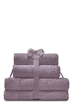 Mauve 4 Piece Cotton Towel Bales
