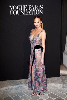 Pin for Later: Le Gala Organisé Par Vogue Était un Défilé de Mode à Lui Tout Seul Chrissy Teigen