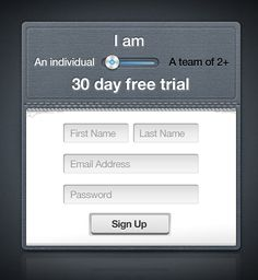 Sign up form | Ui Parade – User Interface Design Inspiration