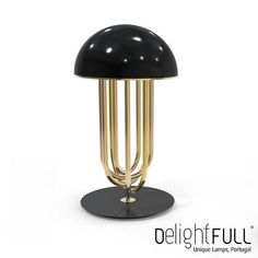 A signature Turner Table Lamp used for Christian Grey's apartment set by Delightfull made in Portugal Art Deco Table Lamps, Black Table Lamps, Bedside Table Lamps, Gold Table, Wall Lamps, Table Desk, Wall Lights, Modern Industrial Decor, Modern Decor