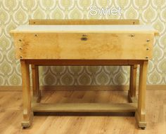 Vintage houten schoolbank | Swiet