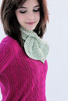 Beginner Keyhole Scarf Free Knitting Pattern