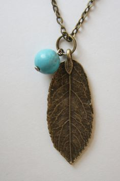 Leaf Necklace // Boho Necklace // Boho Jewelry by wildjuniperyou