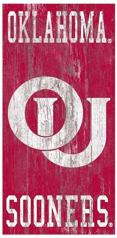 Fan Creations NCAA Oklahoma Sooners 6 x 12 All I Need is Football Friends and Family Wood Sign