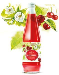 Watercolor beverages on Packaging Design Served