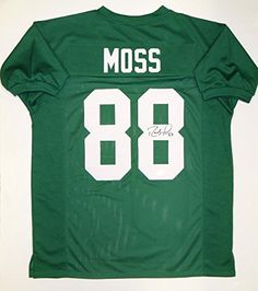 Signed Randy Moss Jersey - Green College Style Witnessed Auth - JSA  Certified - Autographed NFL Jerseys bed37b54d