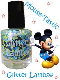 Mouse-Tastic: Glitter Topper Nail Polish Lacquer- Indie Nail Polish Custom Handmade-Mickey Mouse Nail Polish