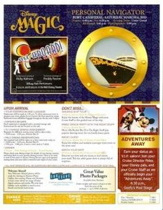 Disney Cruise Insider Tips - lots of Personal Navigators for each ship