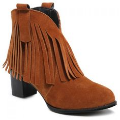 Fringe Suede Zipper Ankle Boots #>=#>=#>=#>=#> Click on the pin to check out discount price, color, size, shipping, etc. Save and like it!