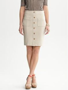 Works for Ponte knits  From Banana Republic