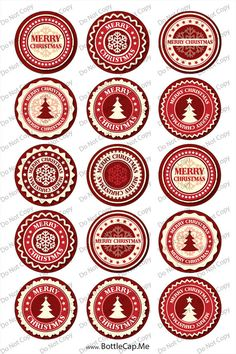 Christmas snowflake label 1 bottle cap images by BottleCapMe Christmas Tree Tops, Christmas Labels, Free Christmas Printables, Christmas Templates, Christmas Snowflakes, Christmas Tag, Vintage Christmas, Bottle Cap Crafts, Bottle Caps