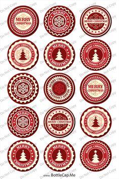 Christmas snowflake label 1 4x6 bottle cap images  by BottleCapMe