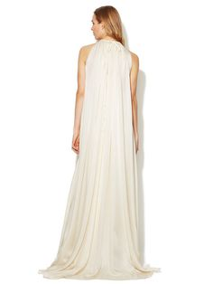 Silk High Neck Blouson Bodice Gown by Derek Lam at Gilt