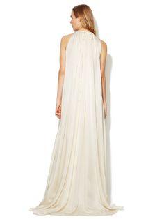 Silk High Neck Blouson Bodice Gown by Derek Lam at Gilt